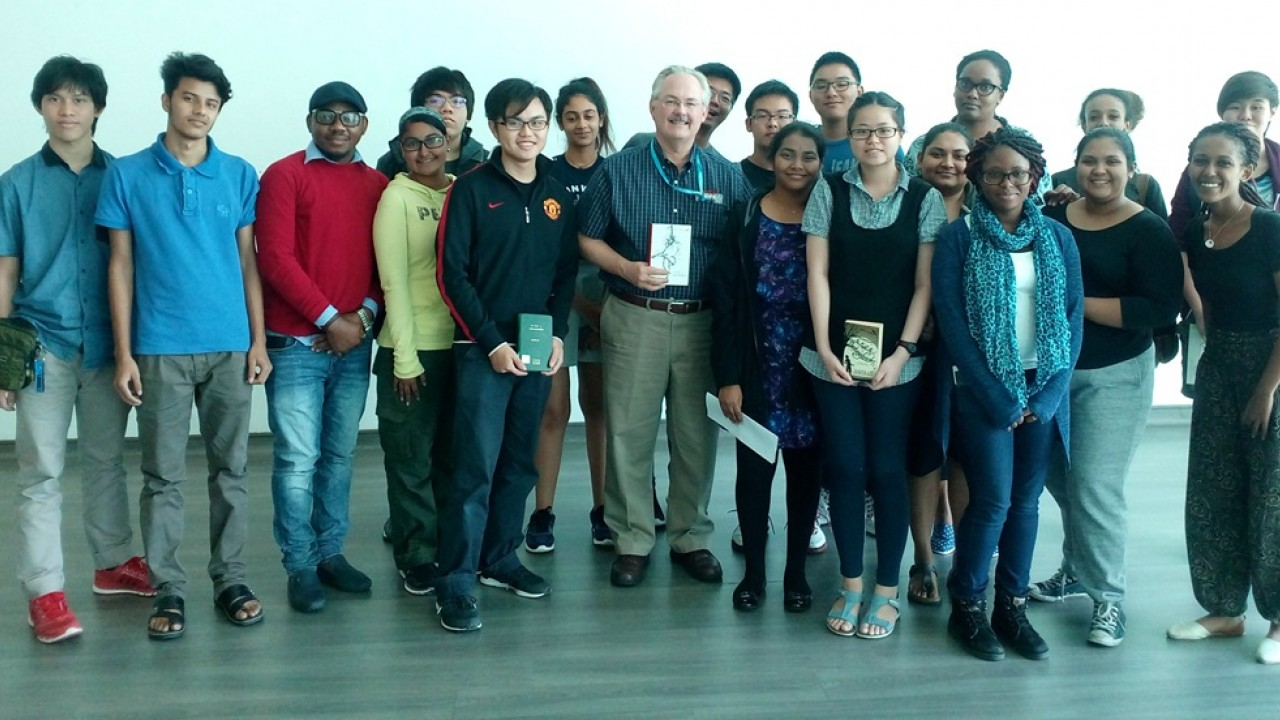 Dr. Brian Wilson with Sunway University students