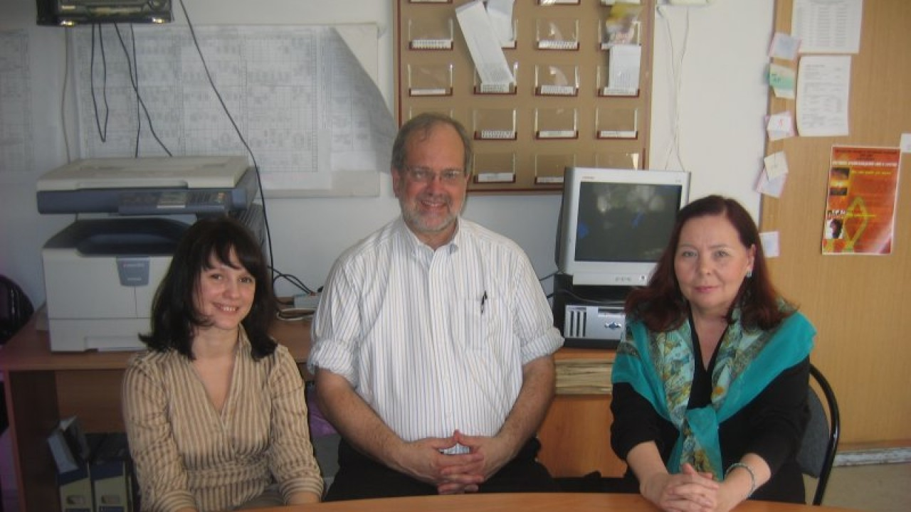 Dr. Jim Butterfield with colleagues in Russia