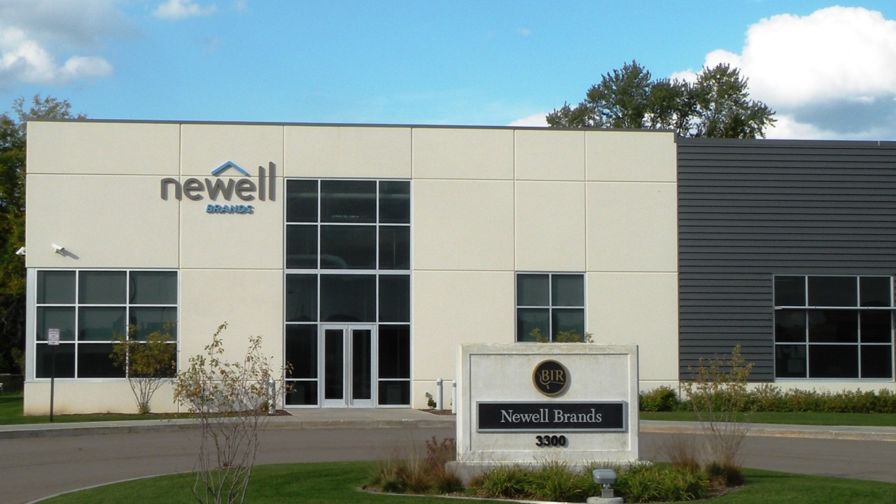 Newell Brands building and sign