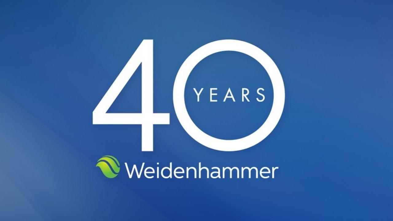 Weidenhammer 40 years logo