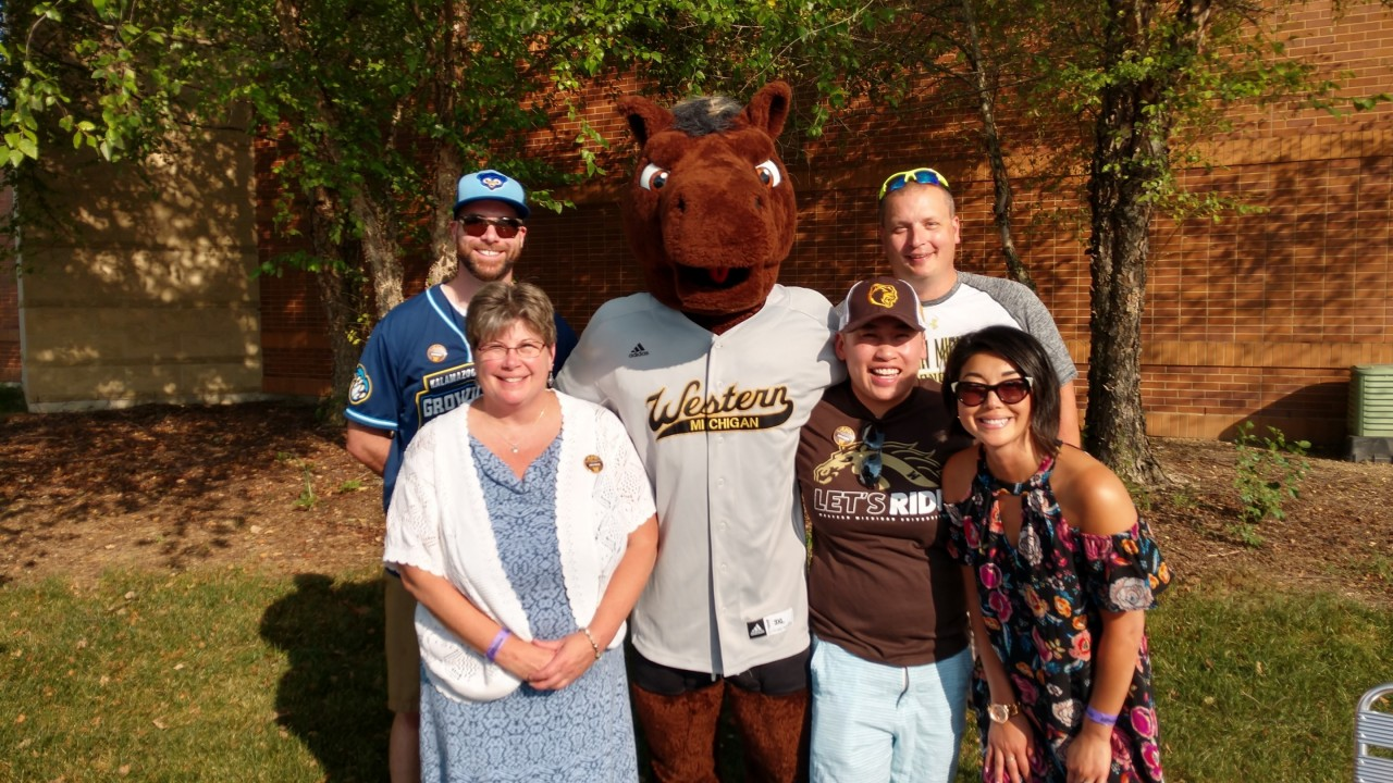 APA members at Growlers baseball game