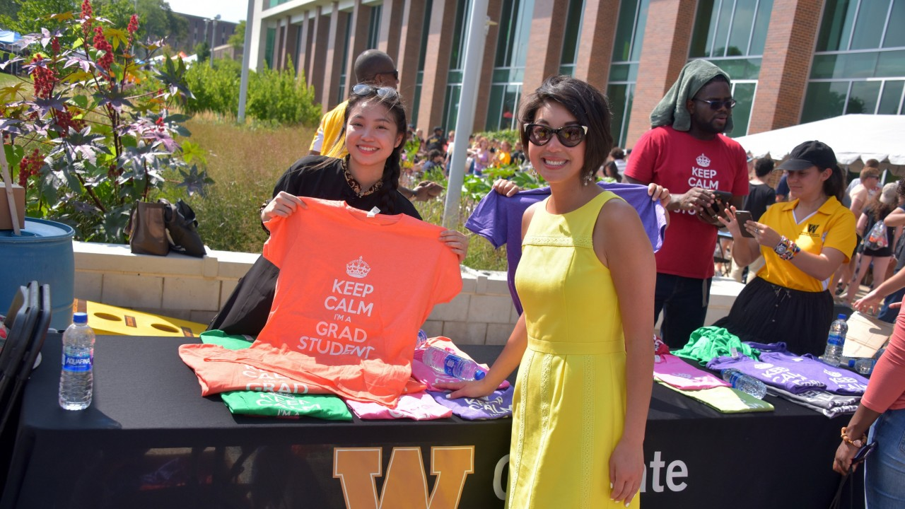 WMU employees at outdoor event