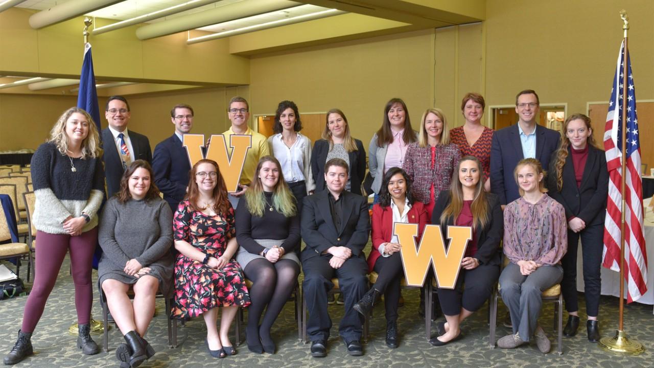 WMU students with Michigan legislators