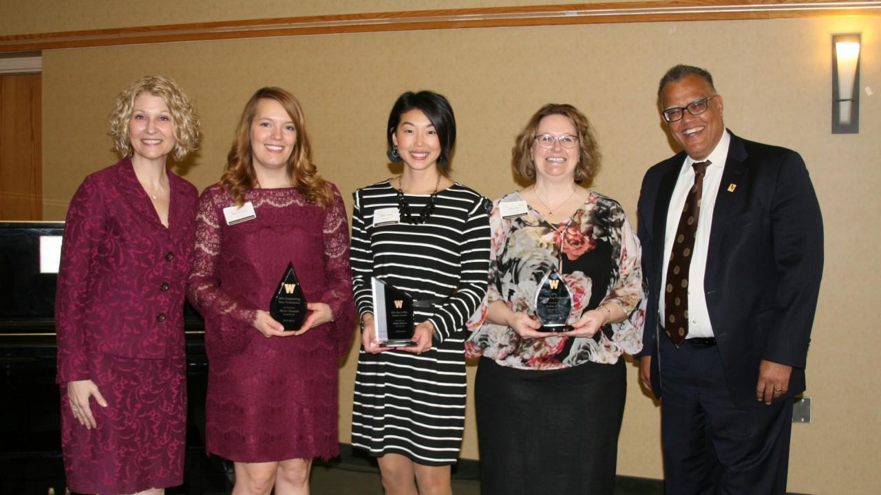 WMU employees at award banquet