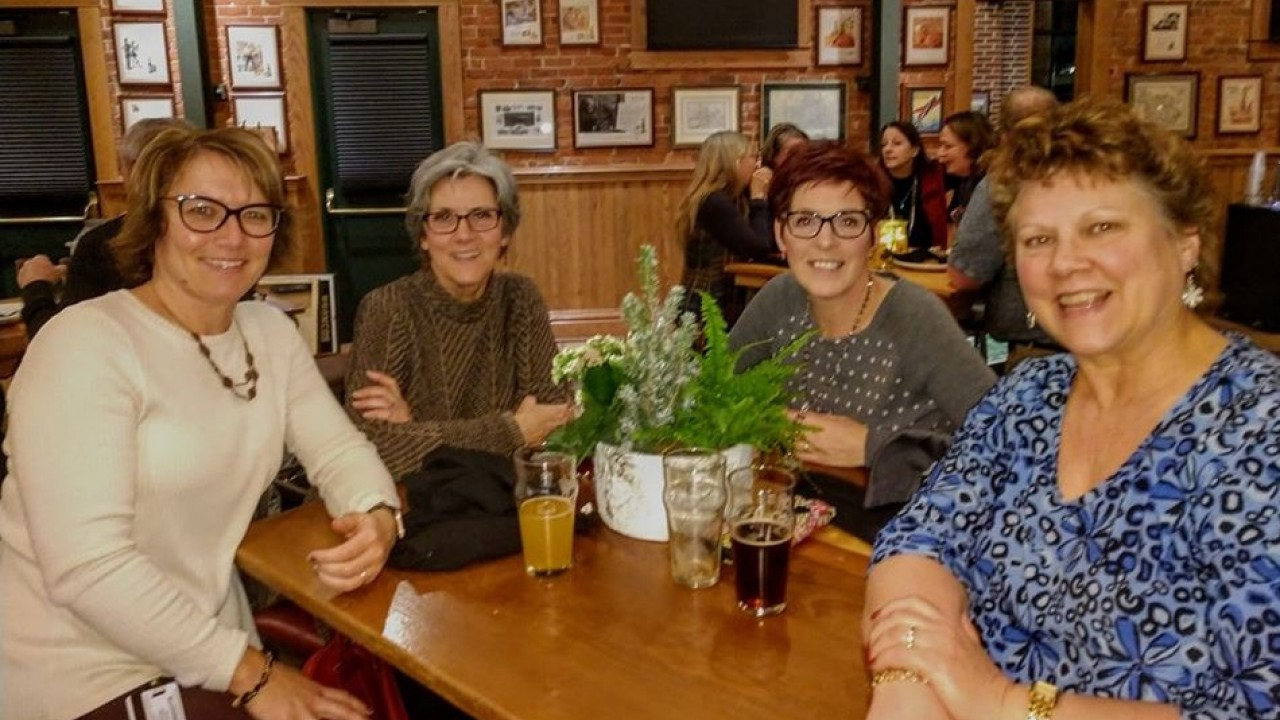 APA members at the 2019 holiday party at Bell's Eccentric Cafe