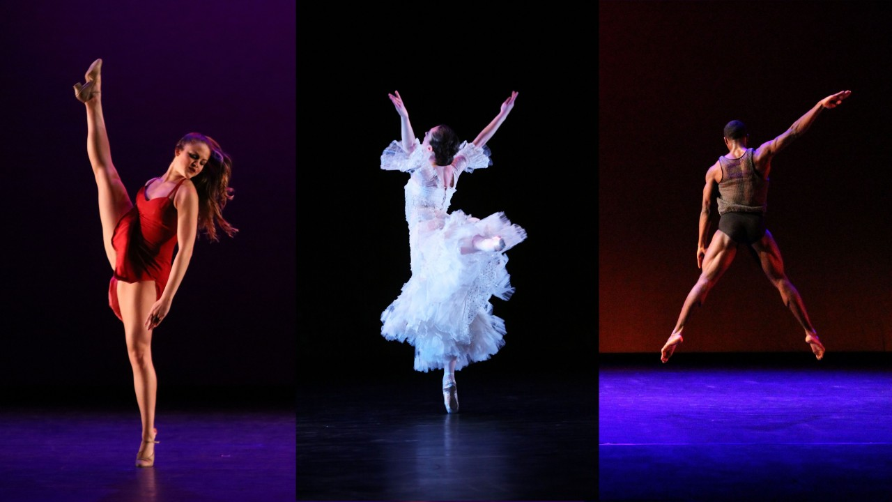 Dancers exhibit training in Jazz, Ballet, and Modern dance