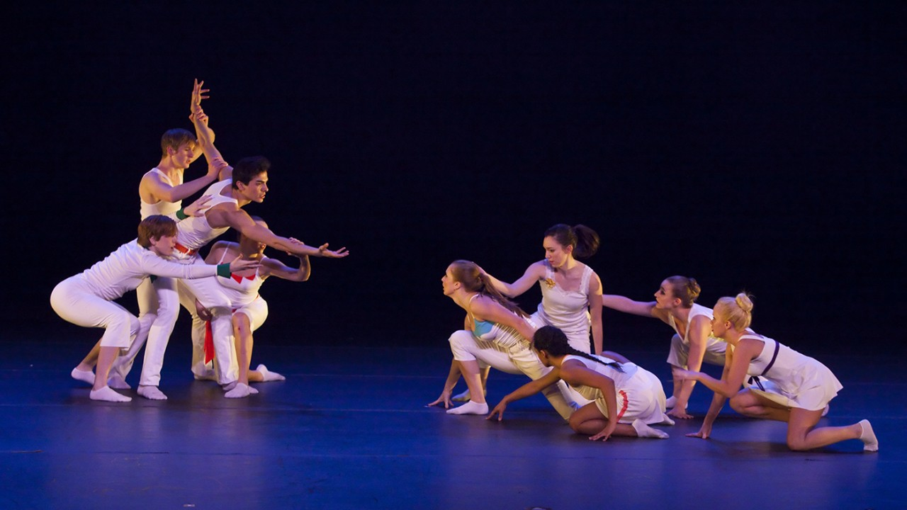 "WMU dancers performing ""Ritournelle"" by Gabirelle Lamb"