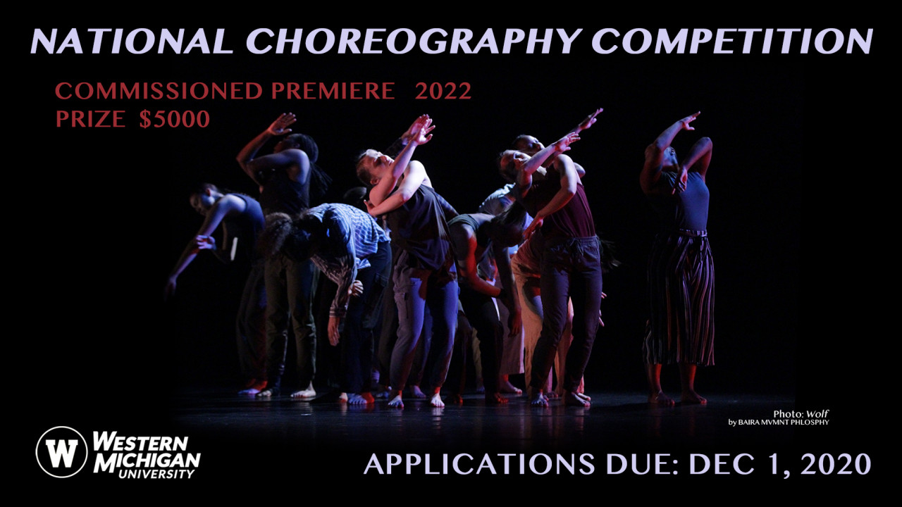 National Choroegraphy Competition applications are due Dec. 1, 2020