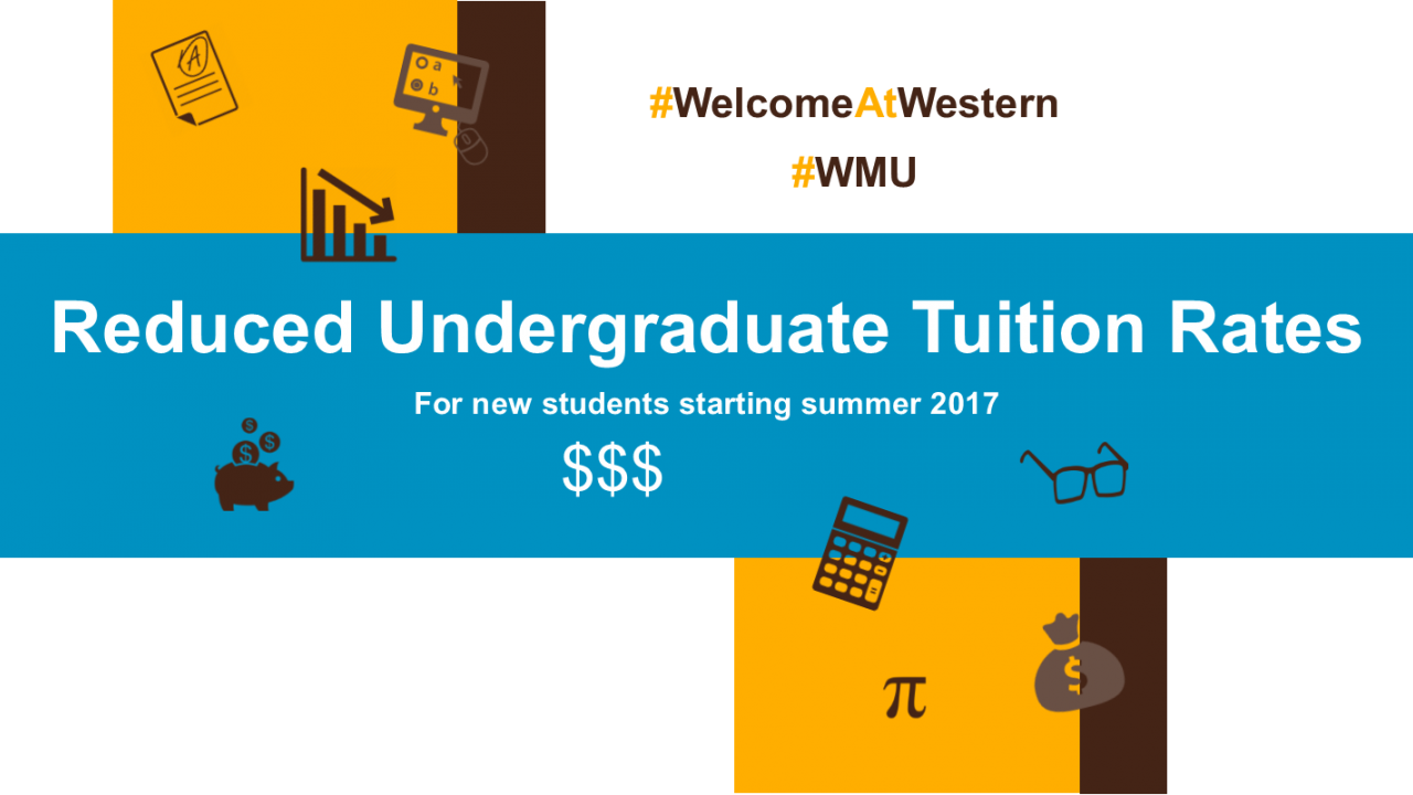 Reduced undergraduate tuition rates for new students starting in summer 2017