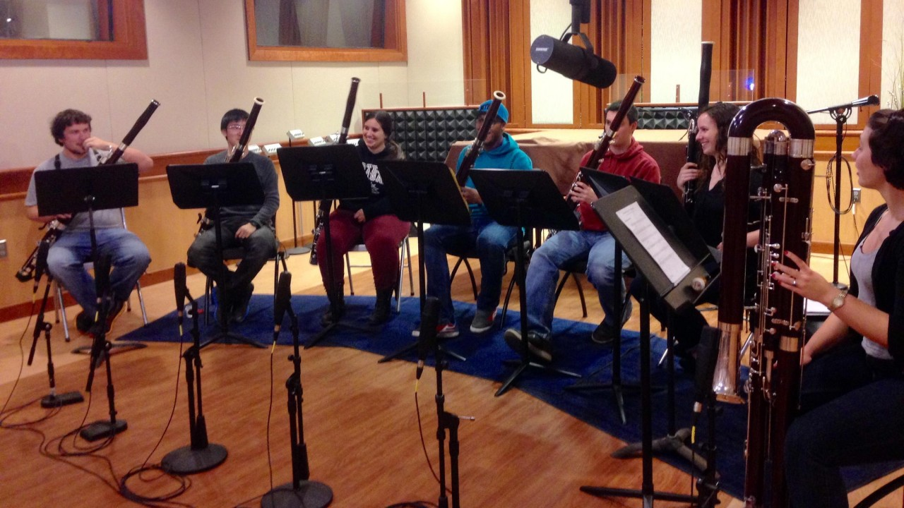 WMUK Radio broadcast with WMU bassoon studio