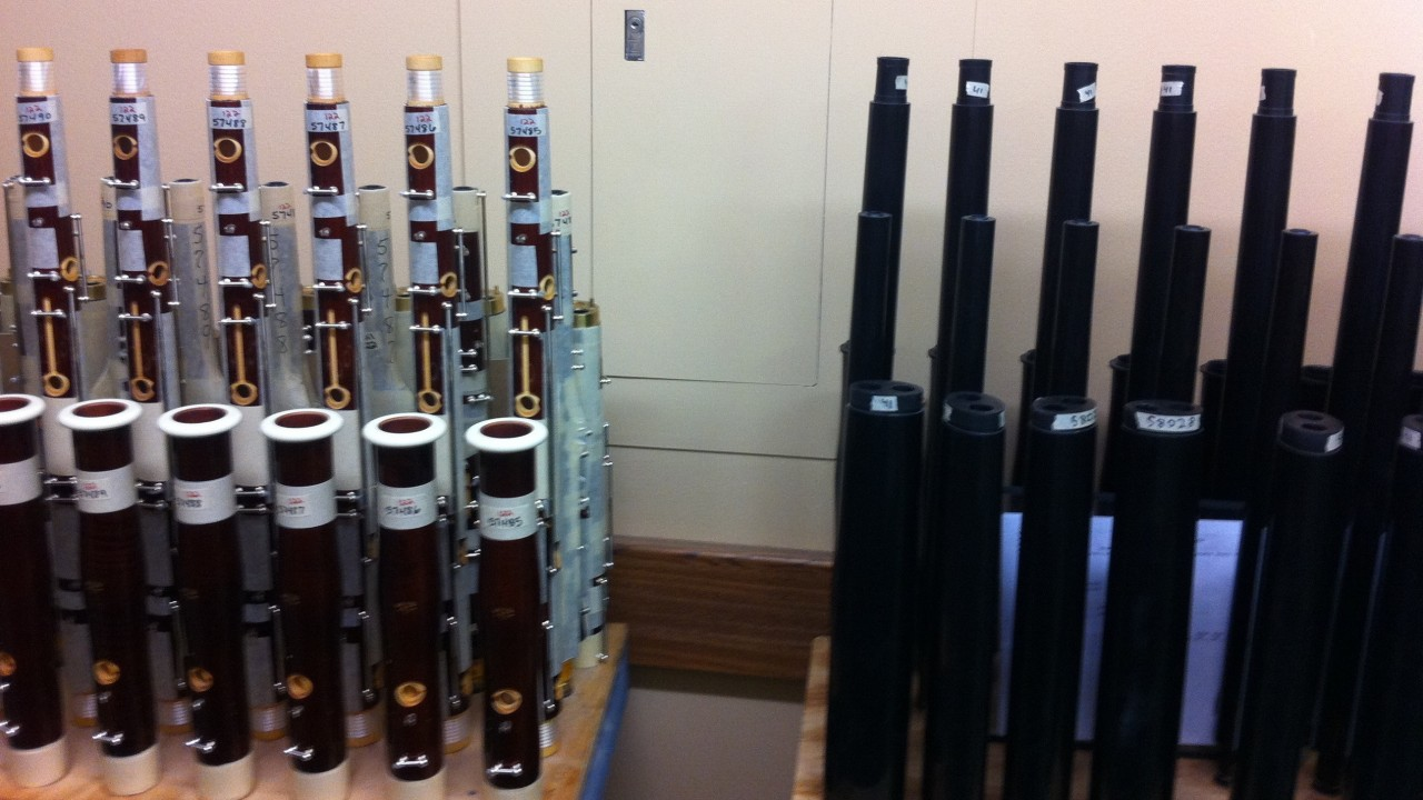 Bassoons on display