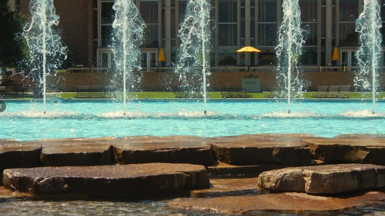 Fountain Plaza outside Dalton Center