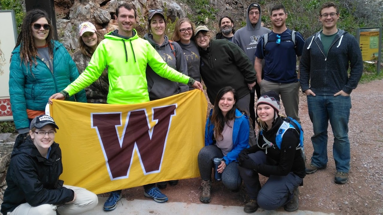 Geology Club members in South Dakota