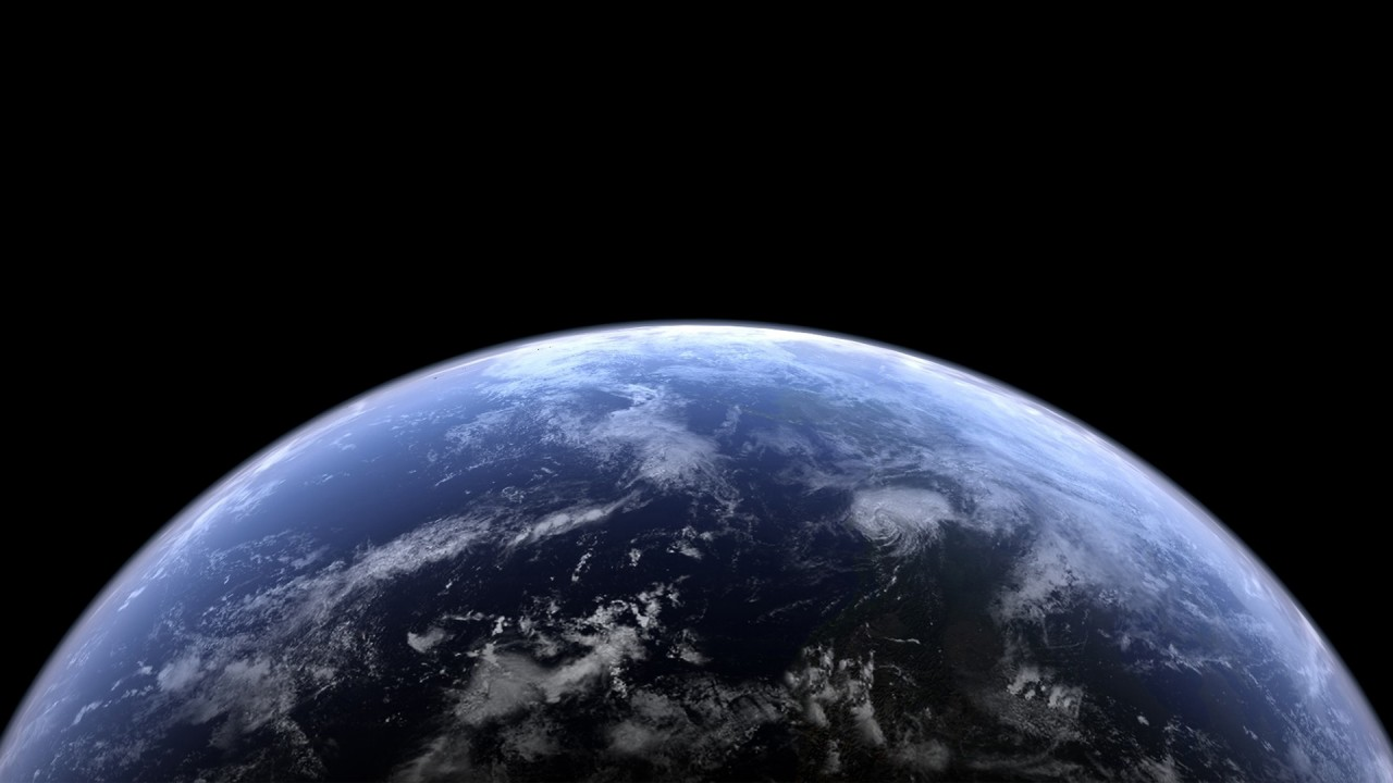 Half of the earth as seen from space