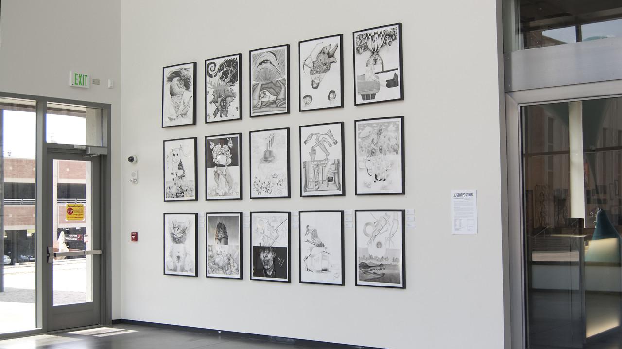 prints on display