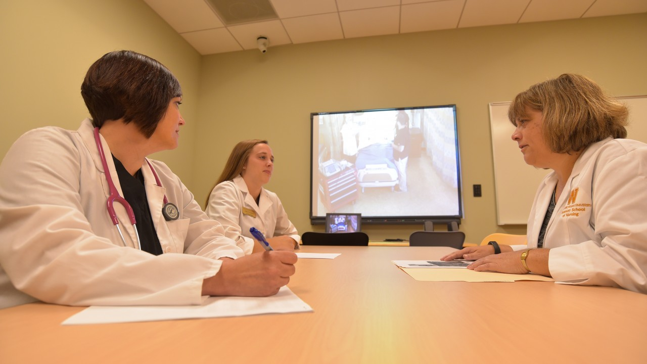 Nursing students in classroom