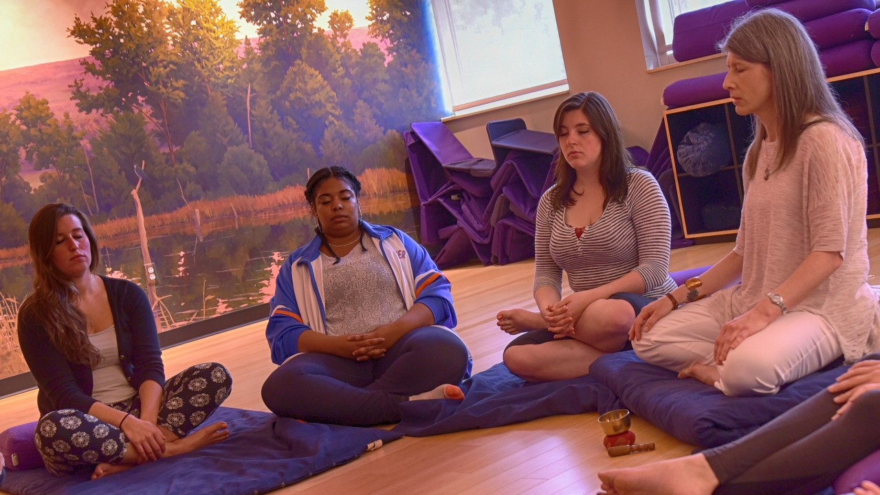 Students in the wellness lab