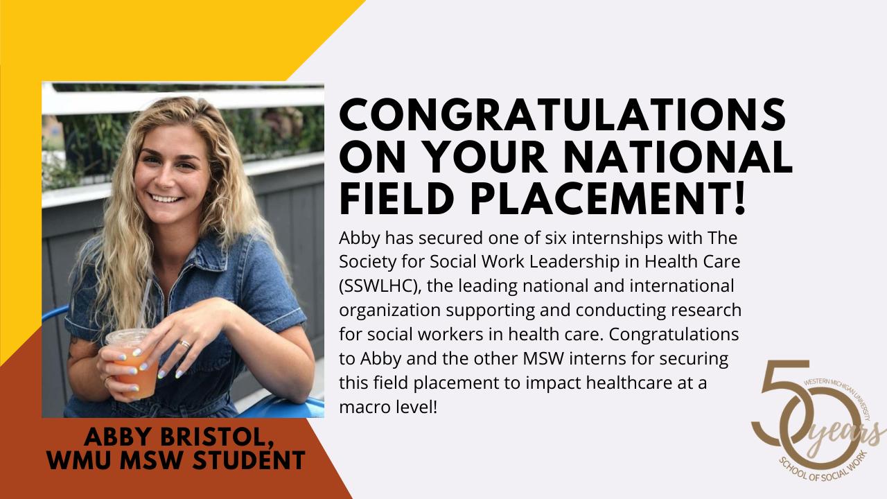 Student Abby Bristol