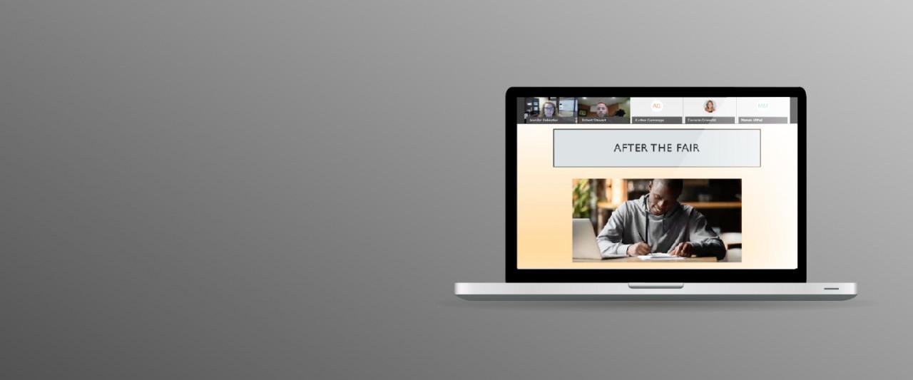 Career fair virtual screen