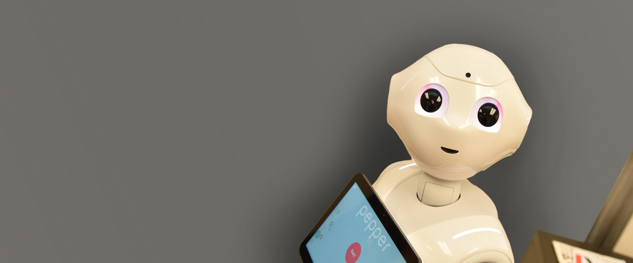 photo of Pepper, a humanoid robot