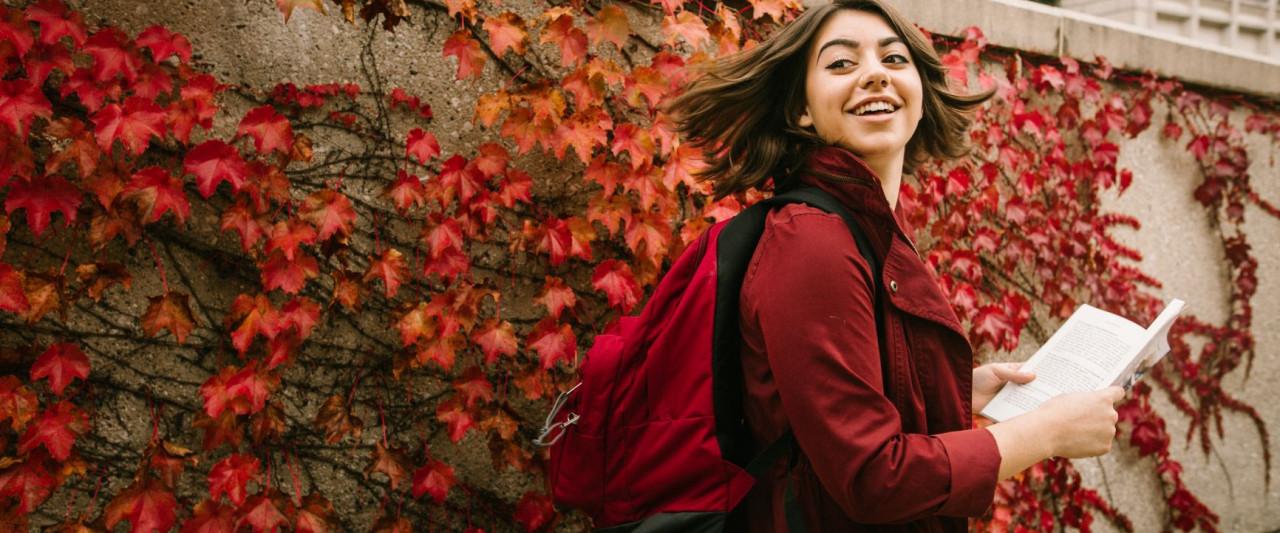 wmu student walking outside