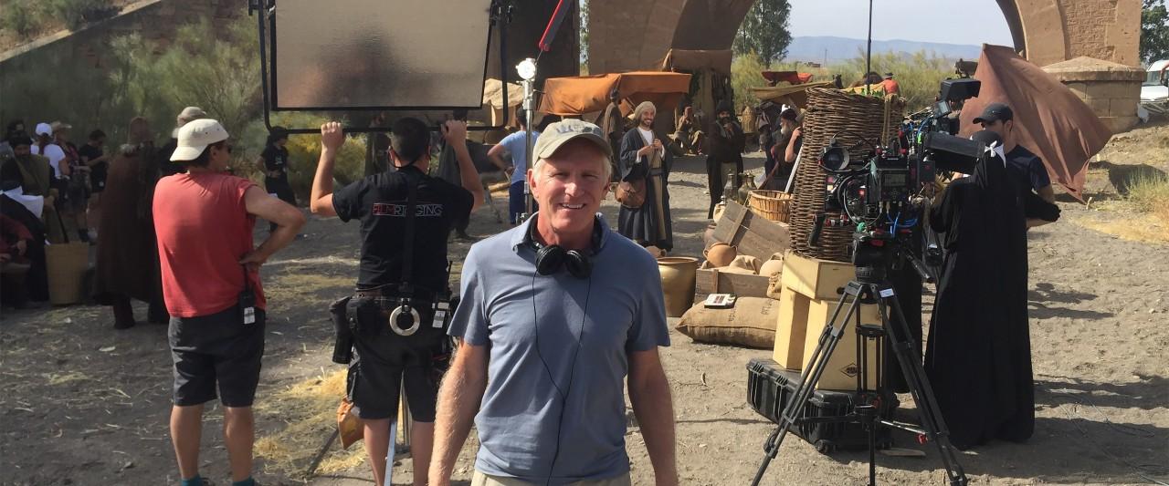 Bob Hercules on the set of his film in Spain