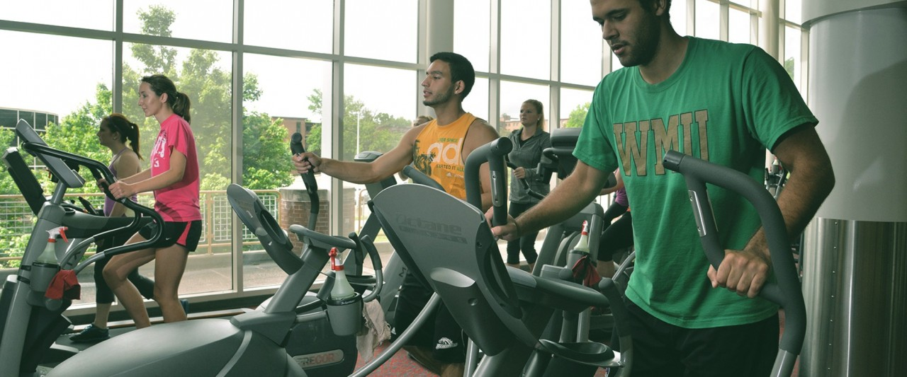 Students exercising at SRC