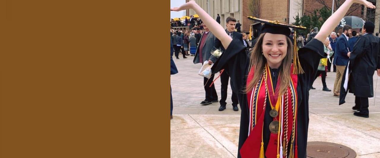 student employee graduating