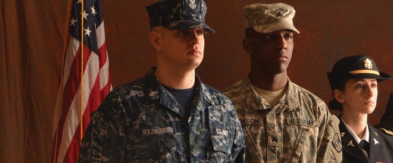 Photo of WMU student veterans.