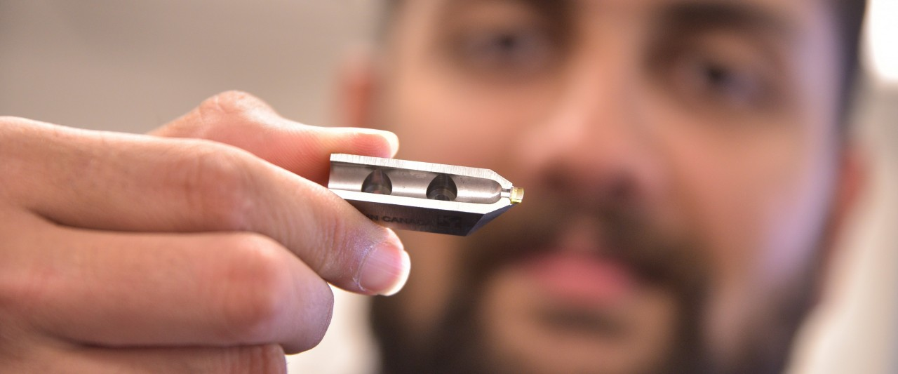 Photo of a Micro-LAM cutting tool.