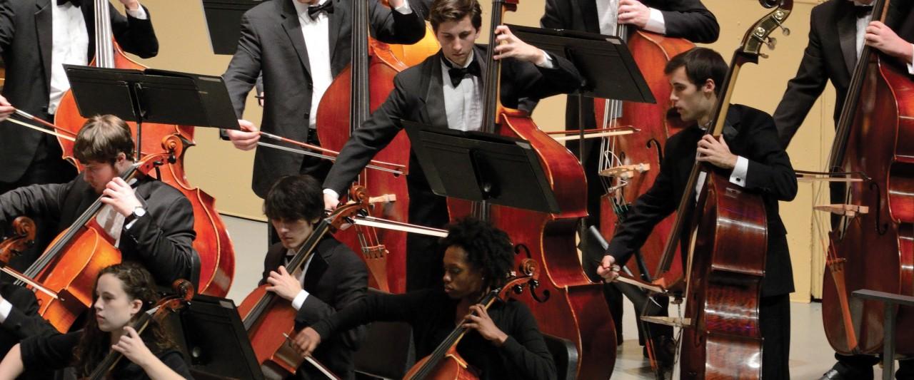 Photo of the University Symphony Orchestra.