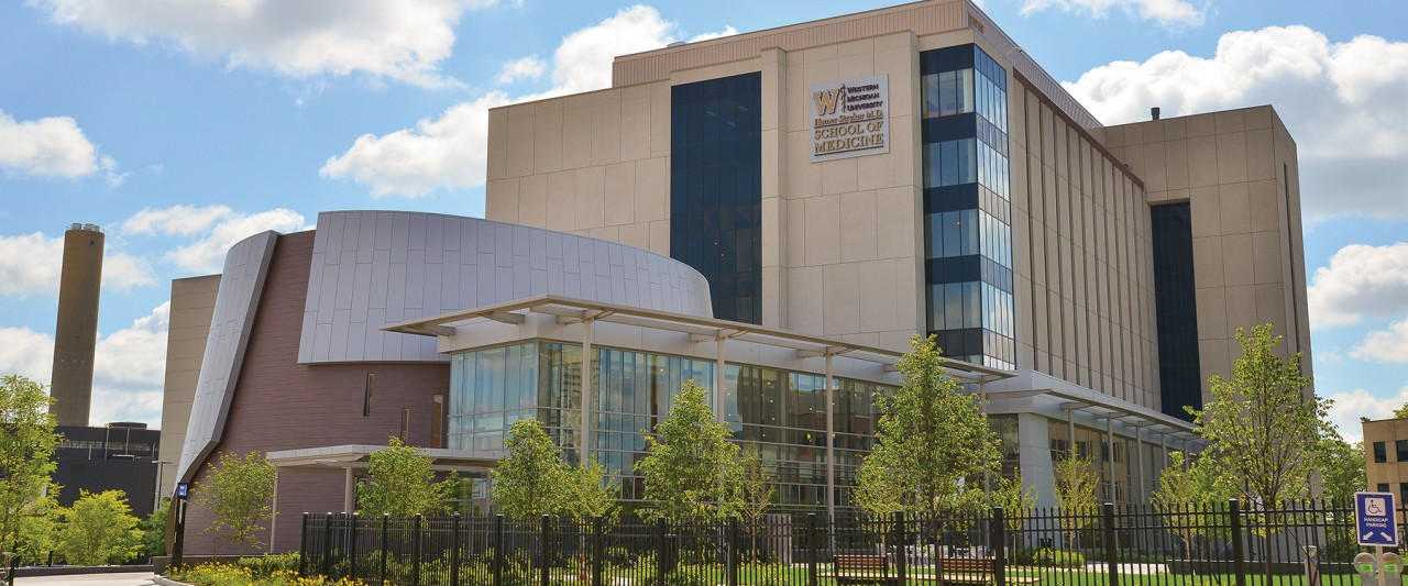 Photo of the WMU Homer Stryker M.D. School of Medicine.