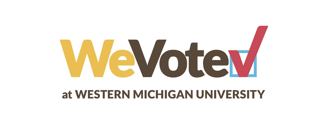 WeVote logo in words followed by a red check mark in a bluebox.