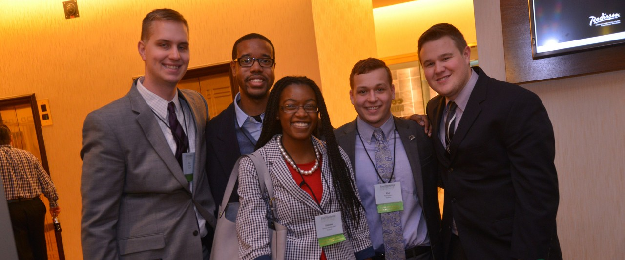 Student attendees at the food marketing conference
