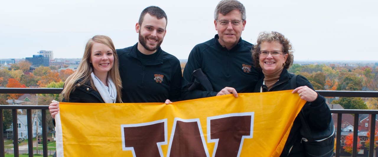 Family with W flag