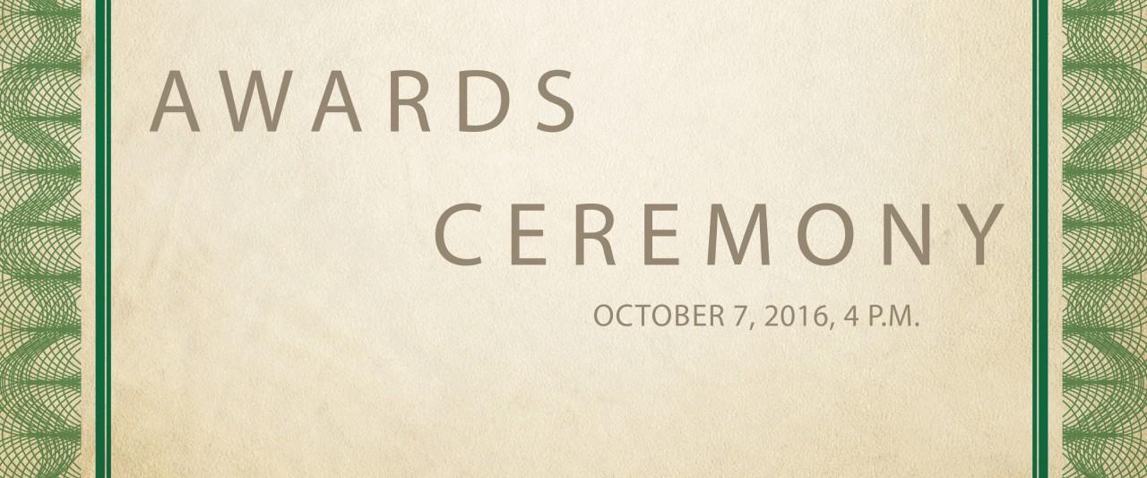 Awards ceremony program cover