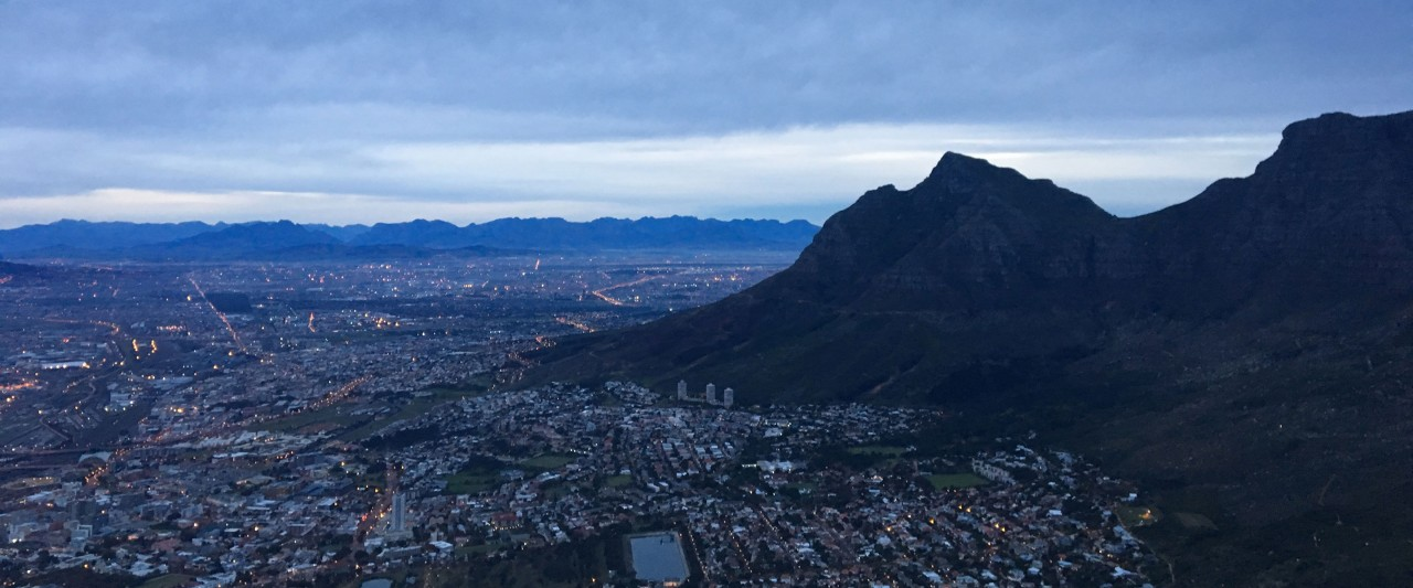Aerial view of South Africa