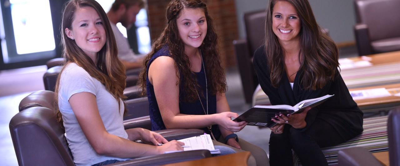 Students in lobby