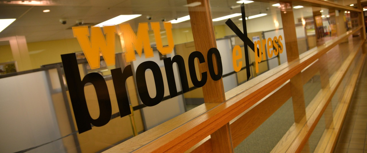 Front of Bronco Express office