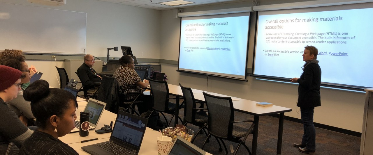 Faculty learning about making materials accessible
