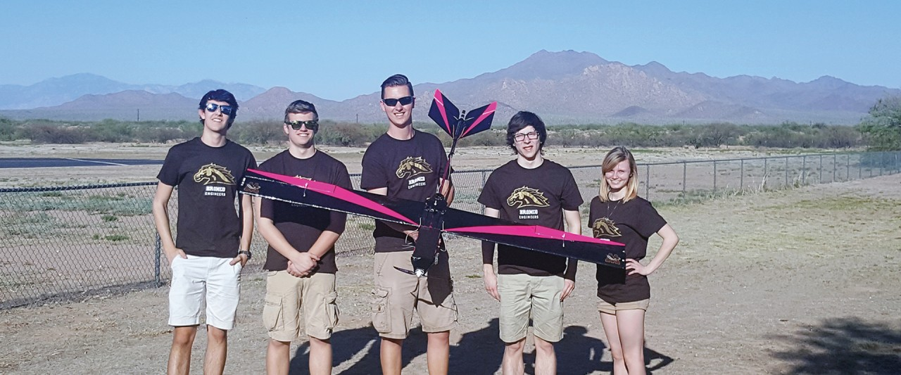 Members of WMU's AIAA team compete in Tucson, Arizona