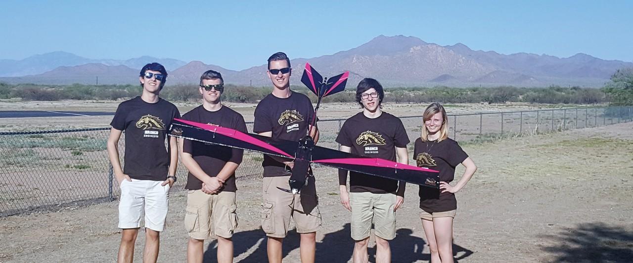 Members of WMU's AIAA team compete in Tucson, Arizona