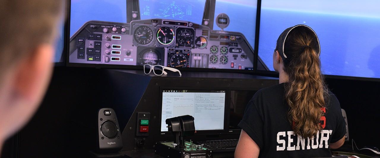 Aerospace engineering flight simulator