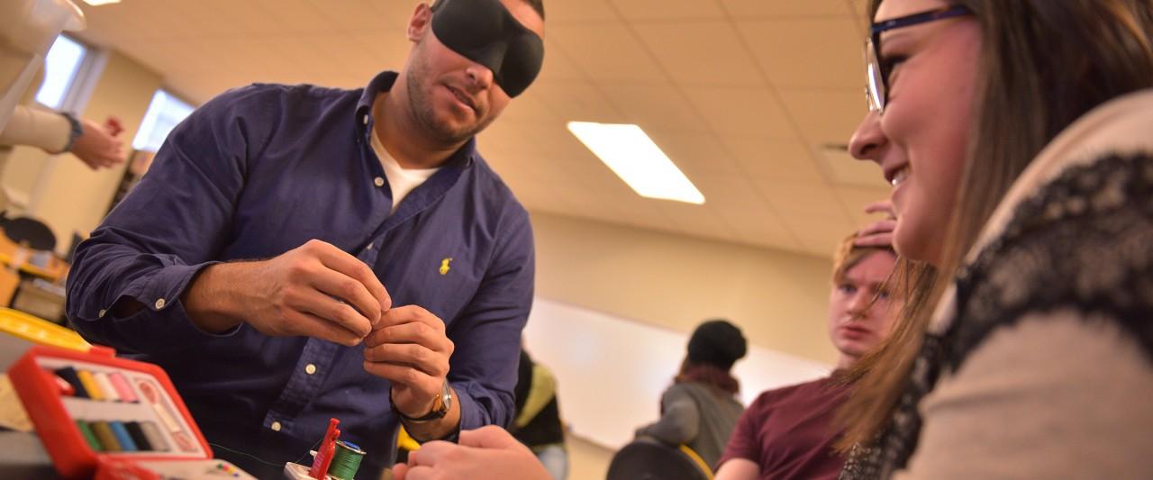 VRT students practicing