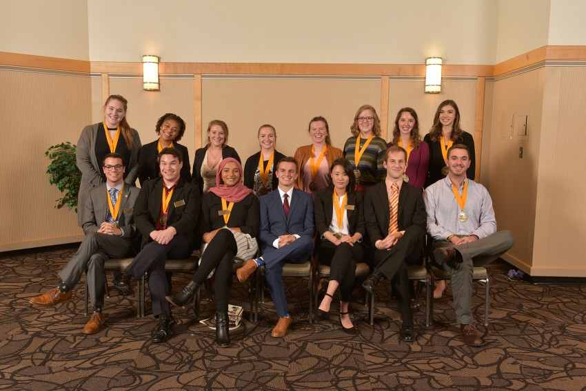 Group portrait of the 2015 medallion class.