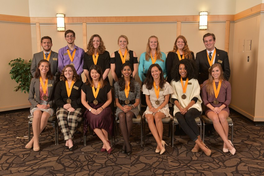 Group portrait of the 2016 medallion class.