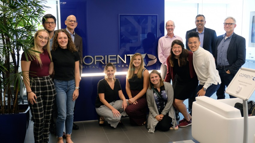 TechNext students at Corient Capital Partners