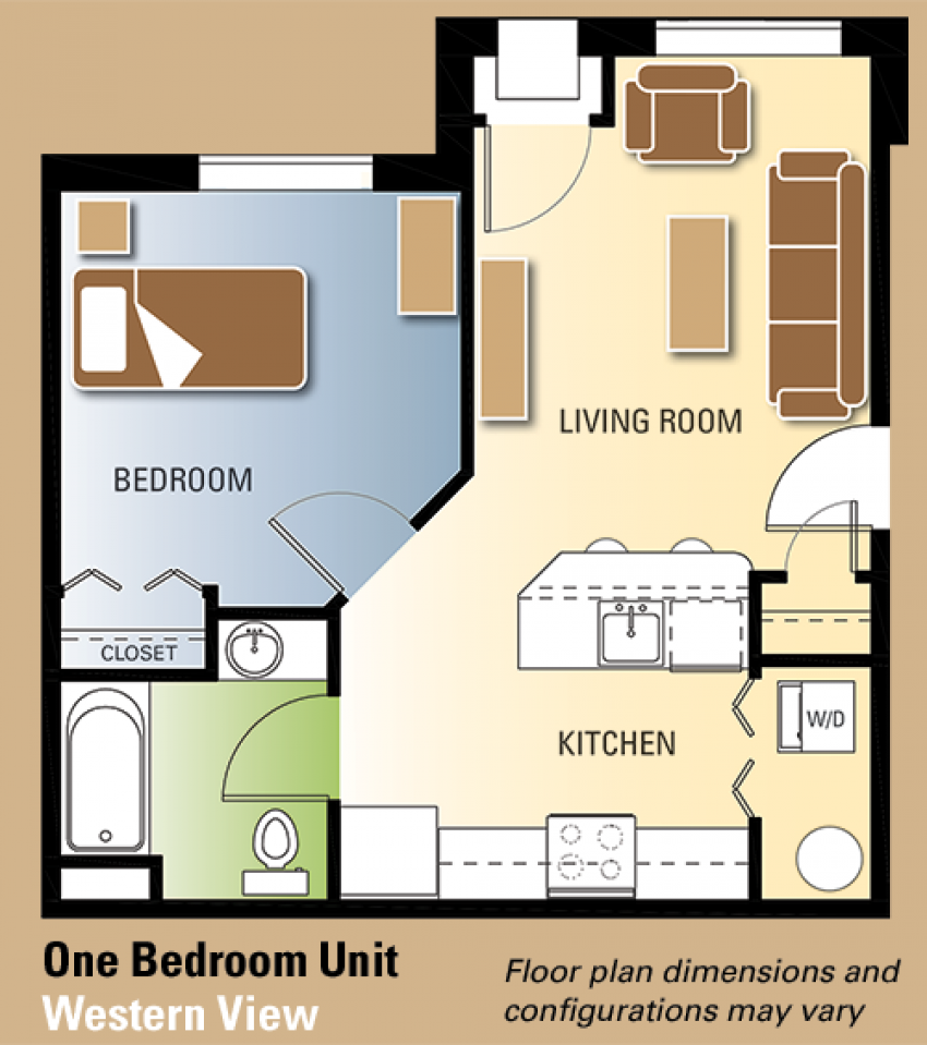 Western view floor plans residence life western for Western floor plans