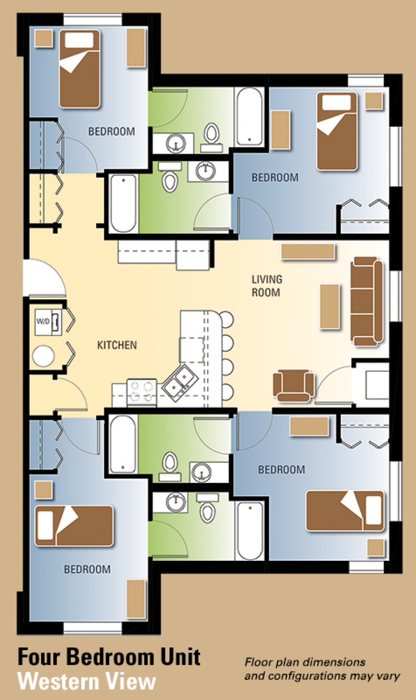 Western View Floor Plans Residence Life Western Michigan - View floor plans