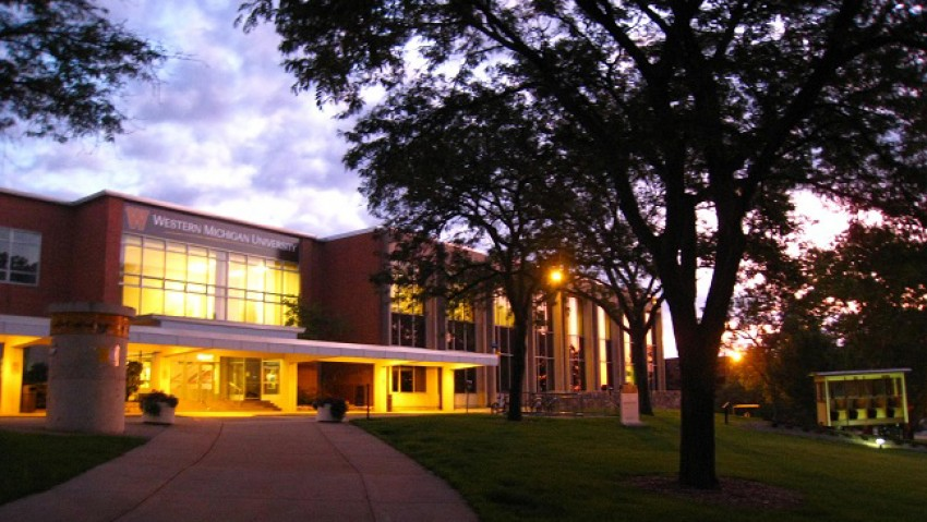Bernhard Center in the evening